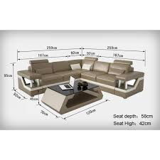dimension d un canapé canapé d angle design en cuir véritable tosca l lit convertible
