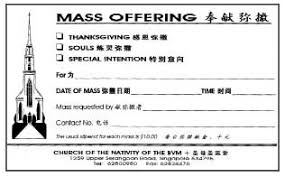 Thanksgiving Offering Envelopes The Significance Of Mass Intentions U2013 Beloved Disciples