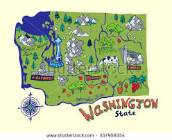 map of wa state washington state stock images royalty free images vectors