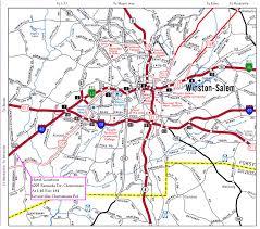 Map Of Outer Banks Nc Map Of Winston Salem North Carolina Vacations Travel Map