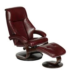mac motion oslo collection top grain leather swivel recliner with