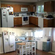 Antique White Cabinets With White Appliances by Kitchen Renovation General Finishes Milk Paint Antique White