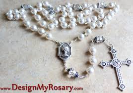 personalized rosary sterling silver bead caps for your custom rosary design my