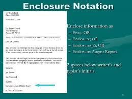Business Letter Format Cc Before Enclosure Letter Writing Essentials