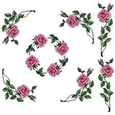 abc designs roses 5 machine cross stitch embroidery designs set