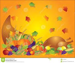 thanksgiving cornacopia thanksgiving feast cornucopia turkey background stock photo