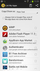 create a list of all your android apps in seconds ghacks tech news