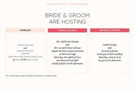 Wedding Invitations Examples Wedding Invitations Wording Bride And Groom Hosting Paperinvite