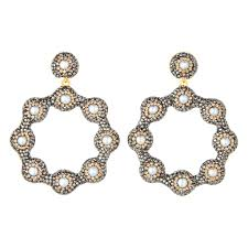 pearl hoop earrings baroque pearl hoop earrings soru jewellery