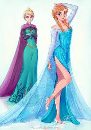 princess anna borrow elsa u0027s u0027let u0027 dress magazine
