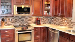 Brick Tile Kitchen Backsplash Kitchen Backsplash Tile Ideas Minimalist Stained Wood Island