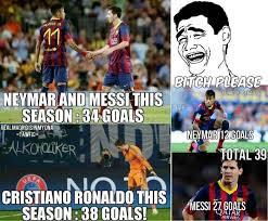 Neymar Memes - messi neymar vs ronaldo fansfoot you ll never laugh alone