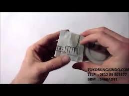 cara membuat origami bunga dari uang kertas cara membuat bunga mawar dengan uang kertas youtube