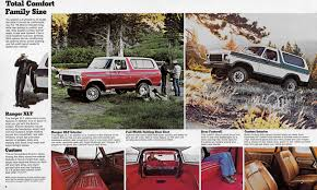 Vintage Ford Truck Seats - 1978 ford bronco brochure