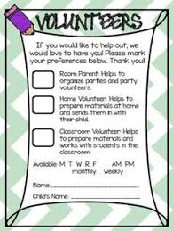 parent volunteer sign up sheet freebie provided by jacque of