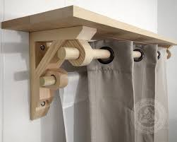 Western Curtain Rod Holders by Single Shelf Support Bracket U0026 Dual Curtain Drapery Holder