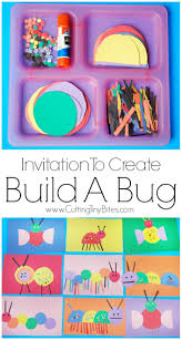 invitation to create build a bug insects creative and craft