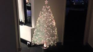 150cm fibreoptic white tree 160 led colour changing
