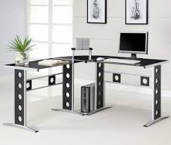 Computer Desk For Corner Home Office Modern L Shaped Corner Computer Desk With Black And