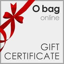 gift card online certificate for o bag online