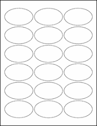 Label Template 21 Per Sheet Free 2 5 X 1 5 Oval Labels Crafts Cricut Patterns