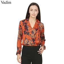 elastic waist blouse vadim vintage floral shirt bodysuit sleeve playsuit