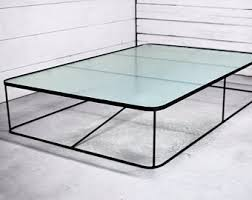 Metal And Glass Coffee Table Glass Coffee Table Etsy