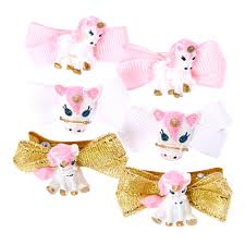 hair bows glitter unicorn mini hair bows s
