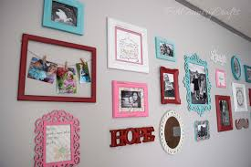 Picture Wall Collage by Girls Room Collage Wall With Free Printables Pa Country Crafts