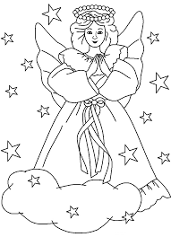 christmas angel coloring pages for kids dyg printable religious