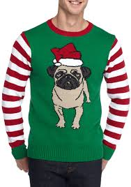 ugly christmas sweater pug sweater belk
