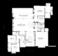 House Plans With Courtyard Mascord House Plan 1242 The Saxon