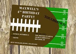 football birthday invitation ideas free invitations ideas