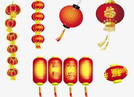 festive lanterns classical lantern festive retro poster