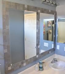 Large Bathroom Mirrors Five Creative Ways To Use Leftover Tile Tile Framed Mirrors