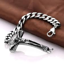 cross bracelet mens images Buy high quality stainless steel bracelets men jpg