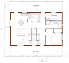 barn gambrel style ecolog on vancouver island floor plan 26 x40 barn style ecolog home main