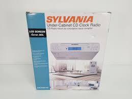 sylvania under cabinet kitchen cd clock radio w remote control