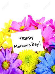 s day flowers gifts colorful mothers day flowers with gift tag stock photo picture and