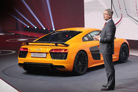 new audi r8 v10 e tron revealed before geneva