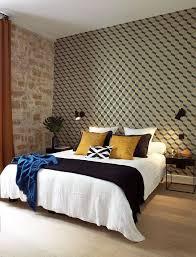 tapisserie pour chambre adulte chambre avec papier peint maison design sibfa com