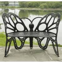 Butterfly Bench Cast Aluminum Benches Outdoorpatioshop Com