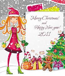 christmas cartoon image vector free vector 4vector
