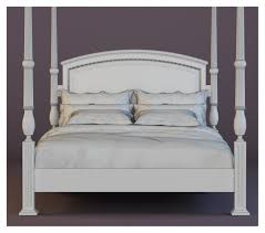 bed baker portsmith bed queen 3d model in bedroom3dexport