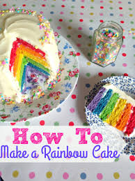 how to make a cake step by step easy 6 layer rainbow cake step by step
