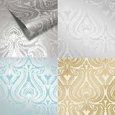 i love wallpaper shimmer metallic damask wallpaper soft grey