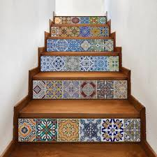 3d wall decals cheap shop fashion style with free shipping bohemian ceramic tiles patterned stair stickers