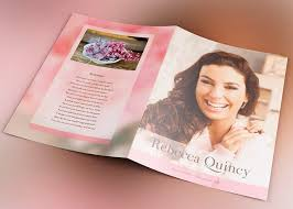 Funeral Program Designs Glamour Funeral Program Template Inspiks Market