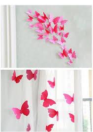 warm butterfly 3d pvc wall pin sticker stereoscopic 3d curtain