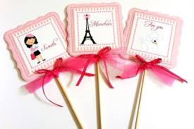 paris party centerpieces decoration with parisian eiffel tower